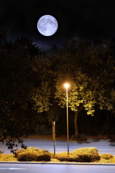 Straßenbeleuchtung per Windkraft-Laterne