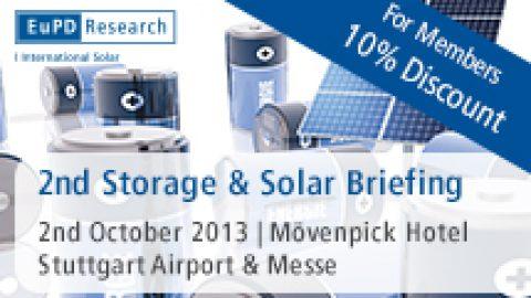 Storage & Solar Briefing 2013: fundierte Wissensvermittlung für Profis