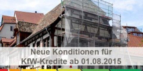 Neue Konditionen für KfW-Kredite ab August 2015