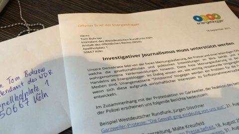 Investigativer Journalismus muss unterstützt werden – Offener Brief der Energieblogger