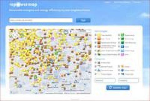 Europäische Landkarte zur Energiewende
