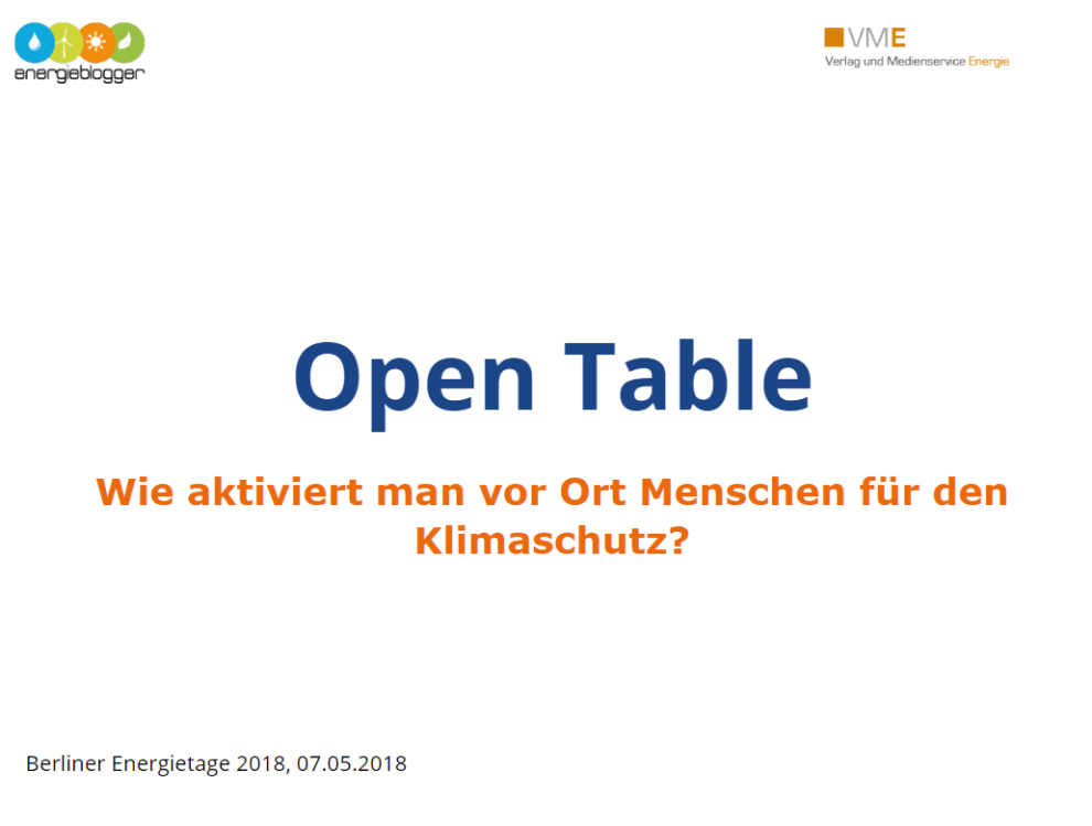 open table 2018