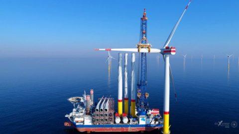 Offshore‐Windpark vor Rügen ging in Rekordzeit ans Netz